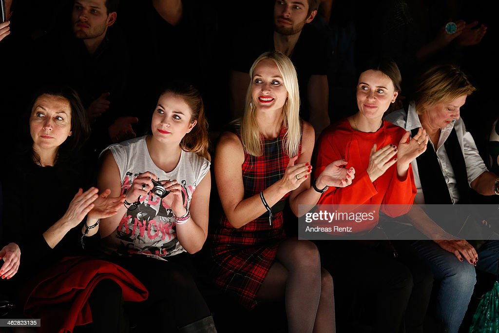 Petra Winter attends the Marcel Ostertag show during Mercedes-Benz Fashion Week Autumn/Winter 2014/15 at Brandenburg Gate on January 15, 2014 in Berlin, Germany.