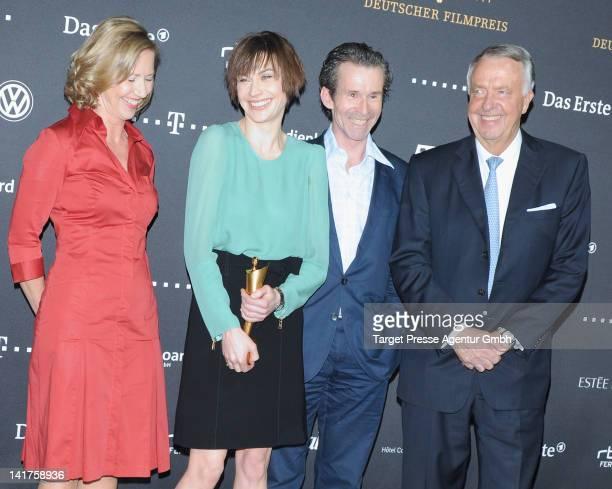 Petra Zieser Christiane Paul Ulrich Matthes and Bernd Naumann attend the 'Lola German Film Award' photocall at Friedrichstadtpalast on March 23 2012...