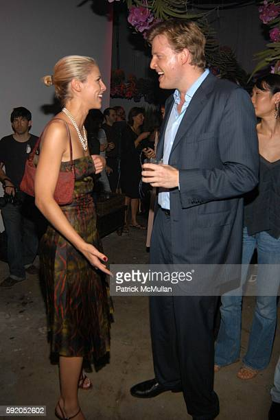 Petrina Khashoggi and Charles Rockefeller attend Afterparty for the CALVIN KLEIN Spring 2006 Collection and Launch of EUPHORIA at Club Euphoria on...