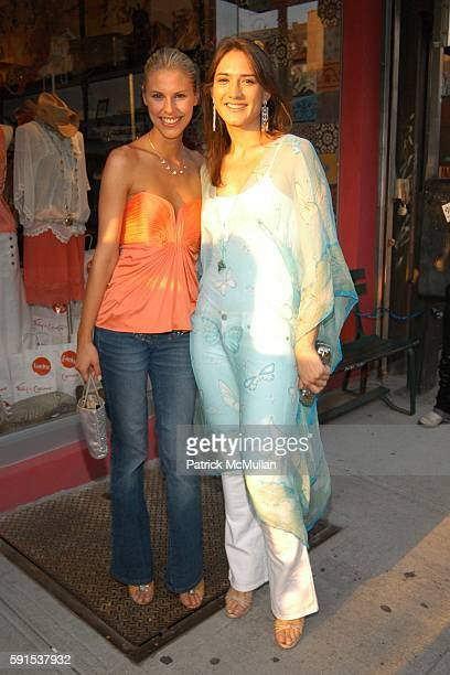 Petrina Khashoggi and Zani Gugelmann attend Foley Corinna Store Opening Party at Foley Corinna Store on June 8 2005