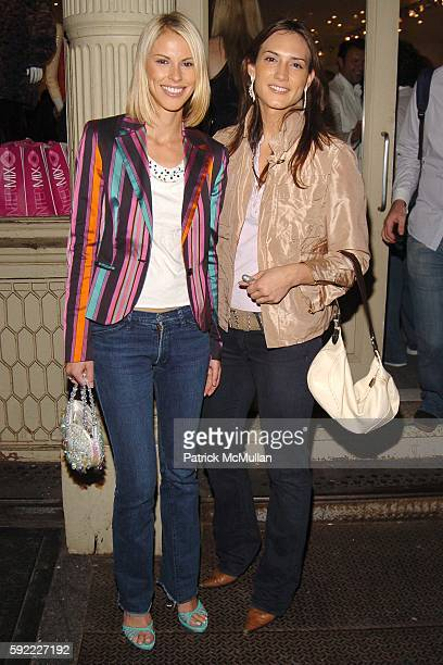 Petrina Khashoggi and Zani Gugelmann attend INTERMIX New York Flagship Store Opening at Intermix on September 28 2005 in New York City