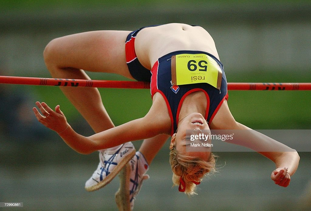 Petrina Price Of Wollongong Competes In The Womens High Jump During Sydney Track Classic At