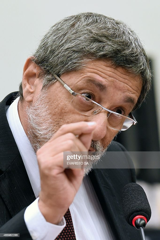 Petrobras former President Jose <a gi-track='captionPersonalityLinkClicked' href=/galleries/search?phrase=Sergio+Gabrielli&family=editorial&specificpeople=750453 ng-click='$event.stopPropagation()'>Sergio Gabrielli</a> speaks during a hearing with the Parliamentary Commission of Inquiry that investigates accusations of corruption in Petrobras, in Brasilia on March 12, 2015. Dozens of politicians from five parties, including from that of Brazilian President Dilma Rousseff, have been implicated in a corrupt network which laundered $4 billion of Brazil's state oil giant money. AFP PHOTO/EVARISTO SA
