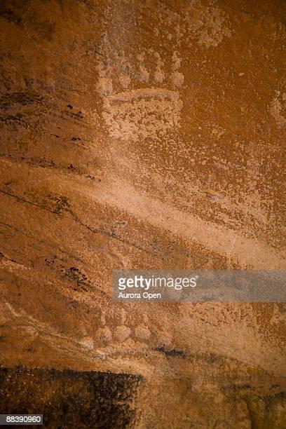 Petroglyphs along the Dolores river near Bedrock,Colorado.