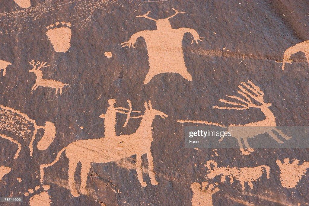 Petroglyphs at Newspaper Rock