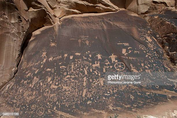 Petroglyphs at Newspaper Rock State Historic Monument, Utah, USA