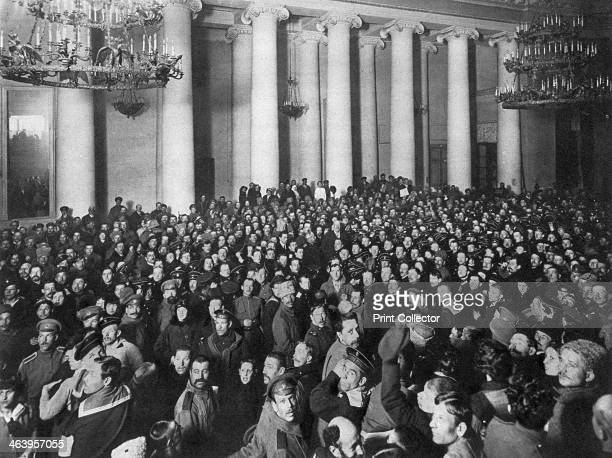 Petrograd Soviet of Workers' and Soldiers' Deputies Tauride Palace Russia 1917 The Petrograd Soviet first met on 27 February 1917 at the beginning of...