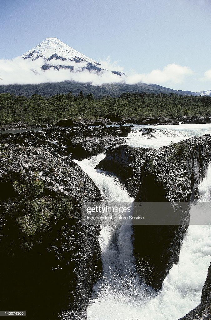 Petrohue River and Osorno Volcano, Chile.