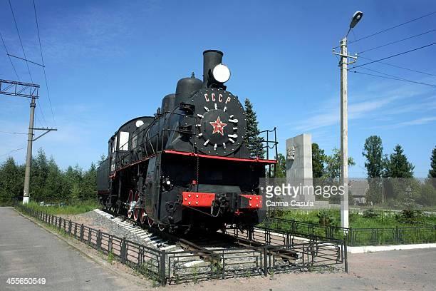 Petrokrepost railway station of the The Road of Life Petrokrepost Leningrad Oblast Russia Federation October 2013