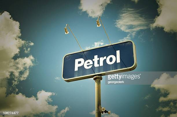 'Petrol' Sign and Sky