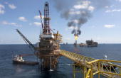 A Petroleos Mexicanos offshore platform produces oil from the KuMaloobZaap field in the Gulf of Mexico 65 miles northeast of Ciudad del Carmen Mexico...