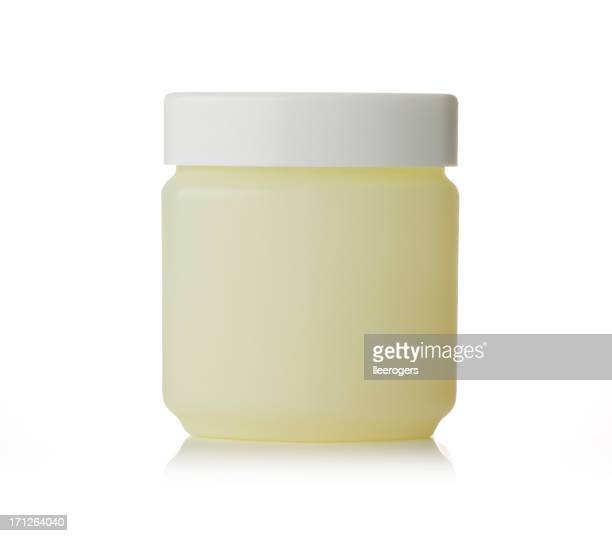 Petroleum jelly tub on a white background