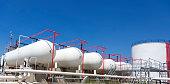 Petroleum Storage Tanks on Petrochemical Plant