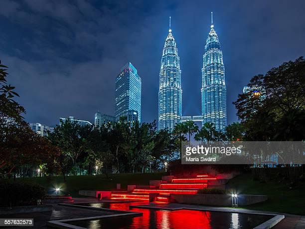 Petronas Towers framed, Kuala Lumpur