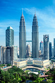 Petronas Towers and KLCC Park in Kuala Lumpur.