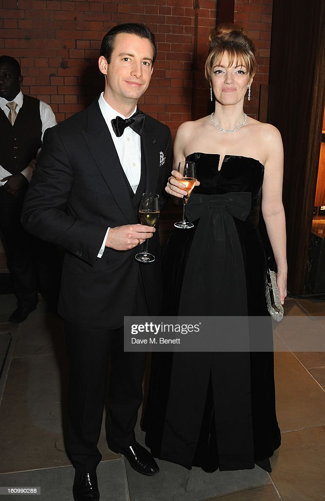 Petronella Wyatt attends the WilliamVintage Dinner hosted by Gillian Anderson and William Banks-Blaney in association with Adler at St Pancras Renaissance Hotel on February 8, 2013 in London, England.