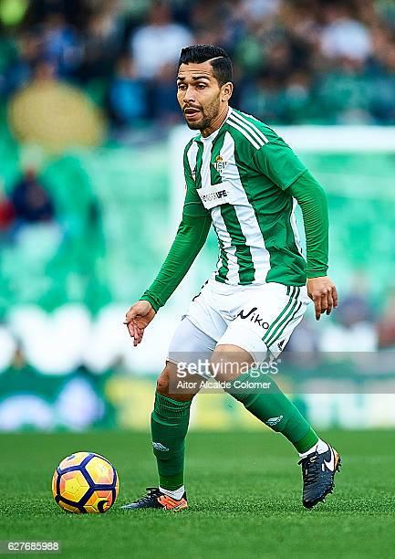 Petros Matheus dos Santos of Real Betis Balompie in action during La Liga match between Real Betis Balompie an RC Celta de Vigo at Benito Villamarin...
