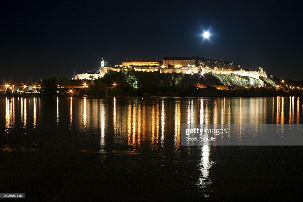 Petrovaradin fortress at night : Stock Photo