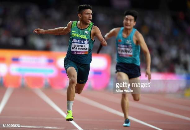 Petrucio Ferreira dos Santos of Brazil wins and sets a new world record in the Men's 100m T47 Final during Day Two of the IPC World ParaAthletics...