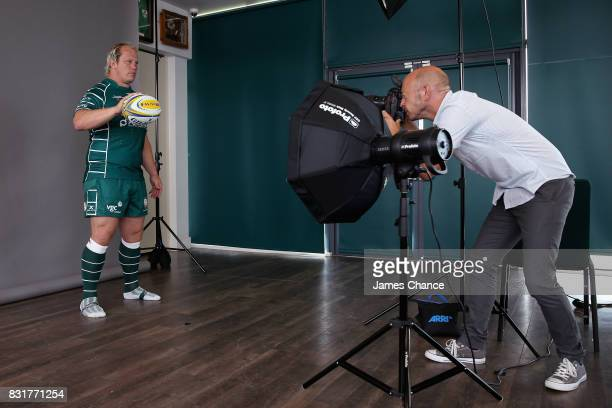 Petrus Du Plessis of London Irish has his photograph taken during the London Irish Photocall on August 14 2017 in Sunbury England