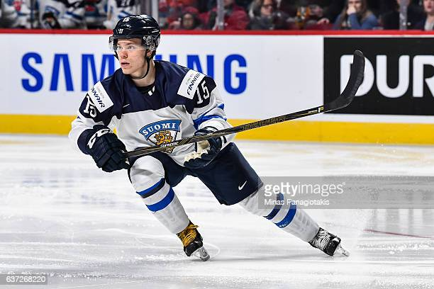 Petrus Palmu of Team Finland skates during the 2017 IIHF World Junior Championship preliminary round game against Team Switzerland at the Bell Centre...