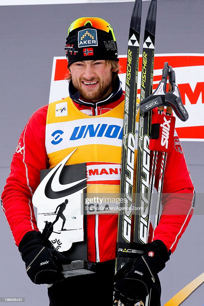 Petter jr. Northug of Norway takes 1st place during the FIS Cross Country World Cup Men's 15km Mass Start on December 17, 2011 in Rogla, Slovenia.