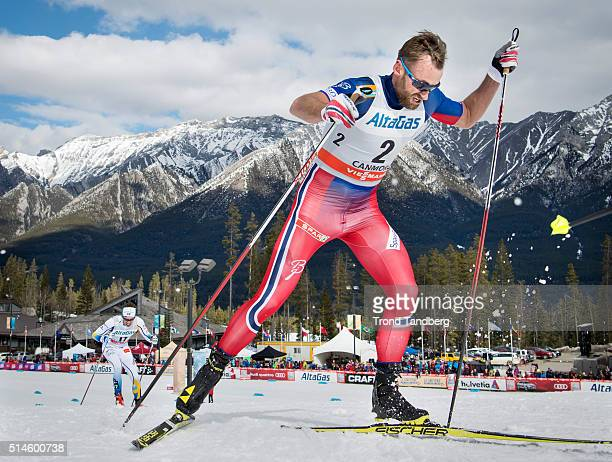 Petter Northug during Cross Country Men Skiathlon 15 km Classic 15 km Free on March 09 2016 in Canmore Canada