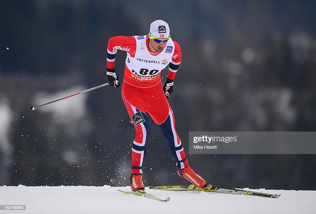 Petter Northug Jr. of Norway in action during the Men's Cross Country Individual 15km at the FIS Nordic World Ski Championships on February 27, 2013 in Val di Fiemme, Italy.
