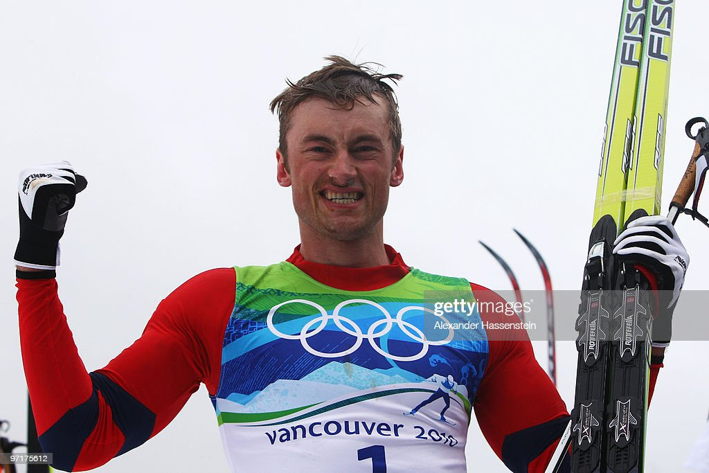 <a gi-track='captionPersonalityLinkClicked' href=/galleries/search?phrase=Petter+Northug&family=editorial&specificpeople=800847 ng-click='$event.stopPropagation()'>Petter Northug</a> #1 of Norway celebrates winning the gold medal during the Men's 50 km Mass Start Classic cross-country skiing on day 17 of the 2010 Vancouver Winter Olympics at Whistler Olympic Park Cross-Country Stadium on February 28, 2010 in Whistler, Canada.