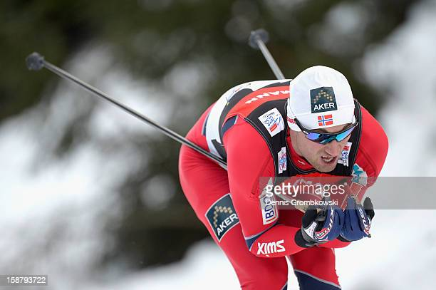 Petter Northug of Norway competes in the Men's 40km Free Individual Prolouge at DKB Ski Arena on December 29 2012 in Oberhof Germany