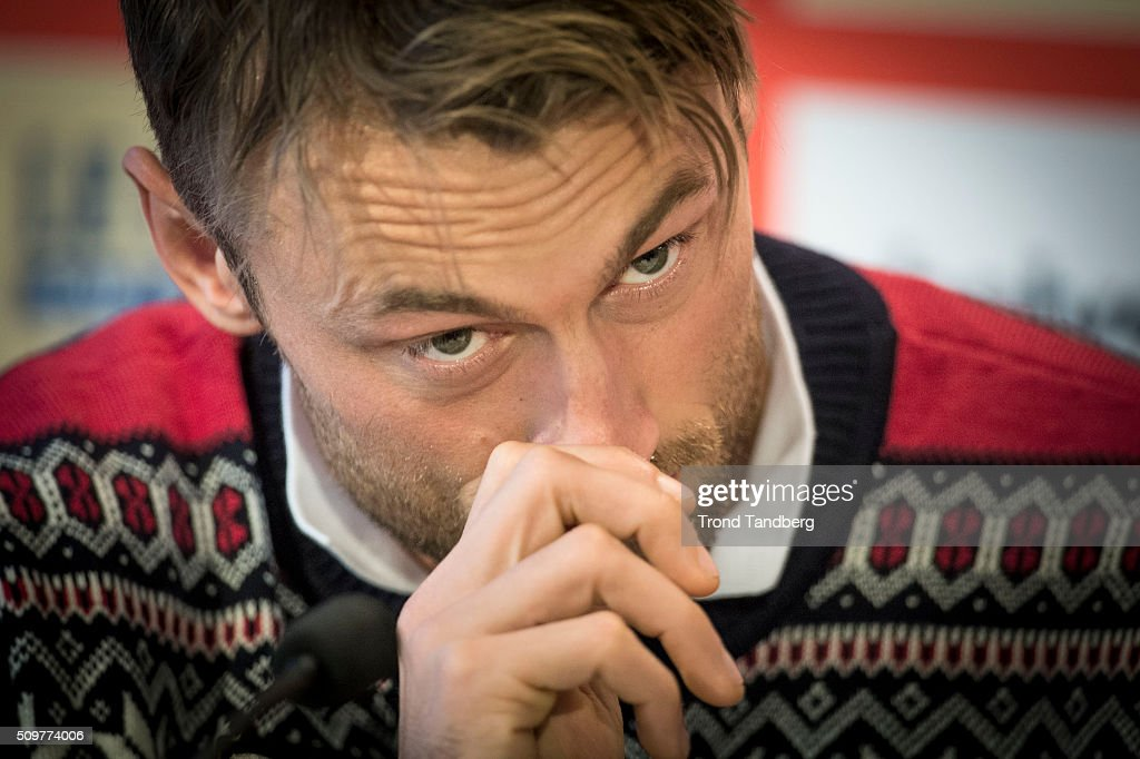 Petter Northug of Norway during a press conference before Cross Country Men 10.0 km Classic on February 12, 2016 in Falun, Sweden.