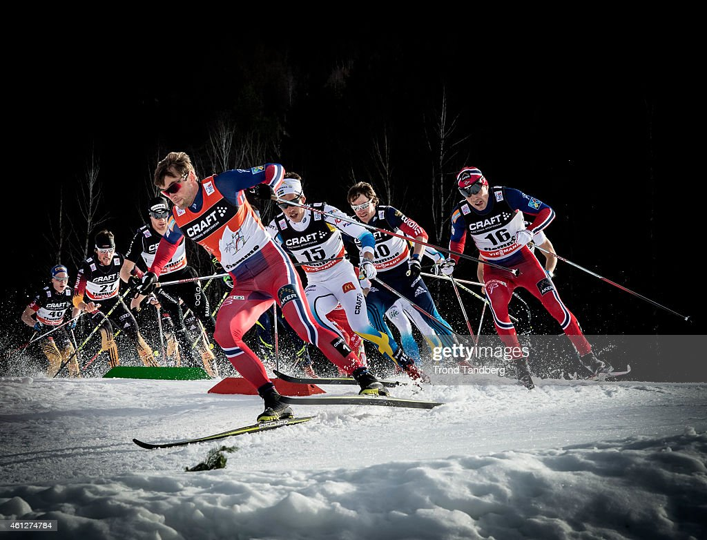 <a gi-track='captionPersonalityLinkClicked' href=/galleries/search?phrase=Petter+Northug&family=editorial&specificpeople=800847 ng-click='$event.stopPropagation()'>Petter Northug</a> of Norway, <a gi-track='captionPersonalityLinkClicked' href=/galleries/search?phrase=Marcus+Hellner&family=editorial&specificpeople=4046940 ng-click='$event.stopPropagation()'>Marcus Hellner</a> of Sweden, <a gi-track='captionPersonalityLinkClicked' href=/galleries/search?phrase=Eldar+Roenning&family=editorial&specificpeople=802581 ng-click='$event.stopPropagation()'>Eldar Roenning</a> of Norway during Men 15 km Mass Start Classic Tour de Ski on January 10, 2015 in Val di Fiemme, Italy.