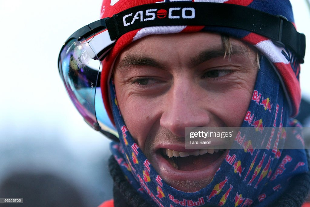 <a gi-track='captionPersonalityLinkClicked' href=/galleries/search?phrase=Petter+Northug&family=editorial&specificpeople=800847 ng-click='$event.stopPropagation()'>Petter Northug</a> of Norway smiles after winning the Men's 15km Pursuit of the FIS Tour De Ski on January 2, 2010 in Oberhof, Germany.