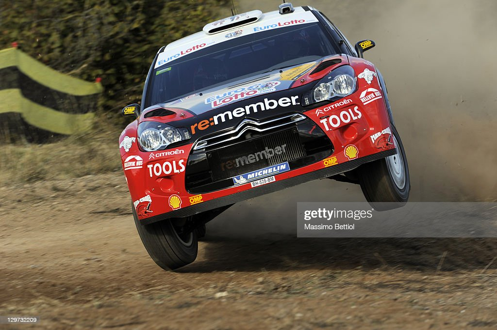 <a gi-track='captionPersonalityLinkClicked' href=/galleries/search?phrase=Petter+Solberg&family=editorial&specificpeople=204731 ng-click='$event.stopPropagation()'>Petter Solberg</a> of Norway and Chris Patterson of Great Britain compete in their <a gi-track='captionPersonalityLinkClicked' href=/galleries/search?phrase=Petter+Solberg&family=editorial&specificpeople=204731 ng-click='$event.stopPropagation()'>Petter Solberg</a> WRT Citroen DS3 WRC during the Shakedown of the WRC Rally of Spain on October 20, 2011 in Salou, Spain.
