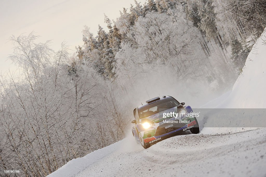 <a gi-track='captionPersonalityLinkClicked' href=/galleries/search?phrase=Petter+Solberg&family=editorial&specificpeople=204731 ng-click='$event.stopPropagation()'>Petter Solberg</a> of Norway and Chris Patterson of Great Britain compete in their Ford WRT Ford Fiesta RS WRC during Day2 of the WRC Rally Sweden on February 11, 2012 in Karlstad, Sweden.