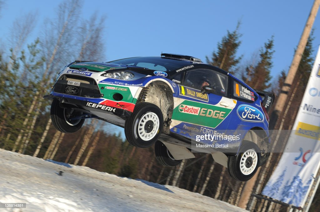 Petter Solberg of Norway and Chris Patterson of Great Britain compete in their Ford WRT Ford Fiesta RS WRC during Day3 of the WRC Rally Sweden on February 12, 2012 in Karlstad, Sweden.