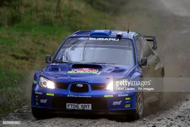 Petter Solberg of Norway in the Subaru Impreza WRC in the Wales Rally GB