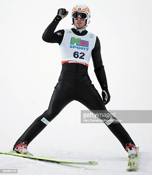 Petter Tande of Norway competes in the Gundersen Ski Jumping HS 138 event during day one of the FIS Nordic Combined World Cup on December 5 2009 in...