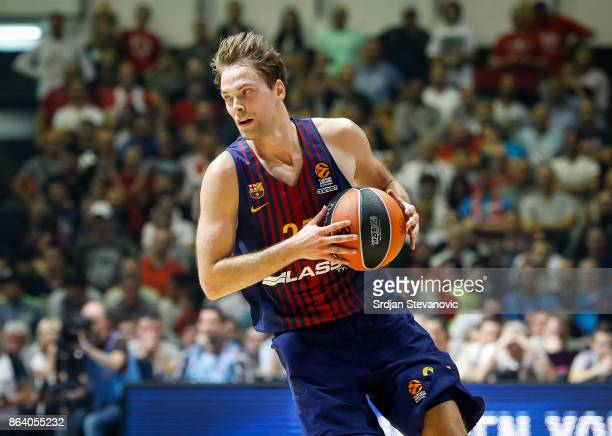 Petteri Koponen of Barcelona in action during the 2017/2018 Turkish Airlines EuroLeague Regular Season game between Crvena Zvezda mts Belgrade and FC...
