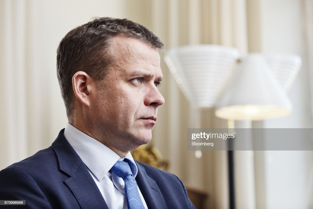 Petteri Orpo, Finland's finance minister, pauses during an interview at his office in Helsinki, Finland, on Thursday, April 20, 2017. Instead of showing other EU members how its possible to exit the bloc, the United Kingdom will demonstrate the process involves such immense economic pain that no other country will want to try it out, Orpo said. Photographer: Roni Rekomaa/Bloomberg via Getty Images
