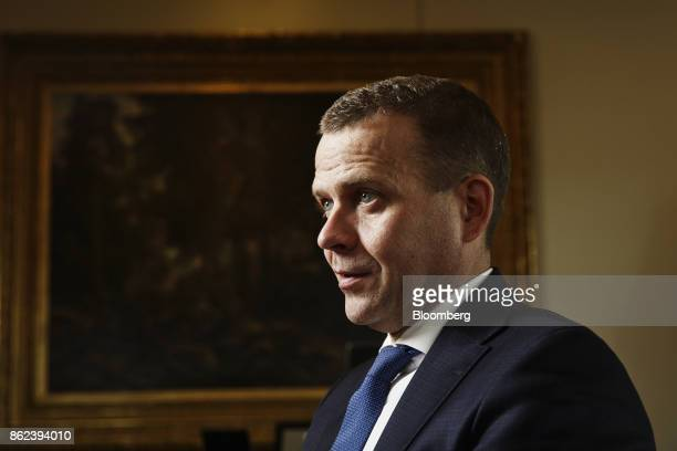 Petteri Orpo Finland's finance minister pauses during an interview in Helsinki Finland on Wednesday Sept 27 2017 'Finland has an even bigger interest...