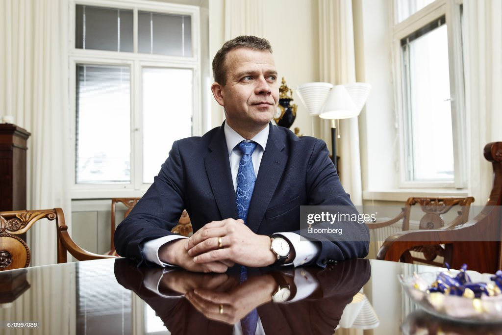 Petteri Orpo, Finland's finance minister, poses for a photograph following an interview at his office in Helsinki, Finland, on Thursday, April 20, 2017. Instead of showing other EU members how its possible to exit the bloc, the United Kingdom will demonstrate the process involves such immense economic pain that no other country will want to try it out, Orpo said. Photographer: Roni Rekomaa/Bloomberg via Getty Images