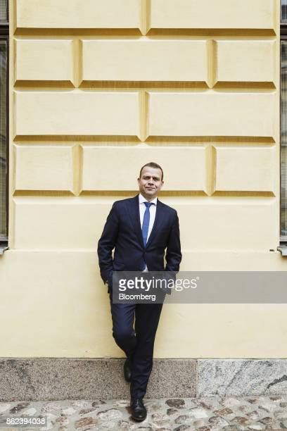 Petteri Orpo Finland's finance minister poses for a photograph following an interview in Helsinki Finland on Wednesday Sept 27 2017 'Finland has an...