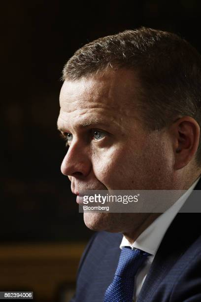 Petteri Orpo Finland's finance minister speaks during an interview in Helsinki Finland on Wednesday Sept 27 2017 'Finland has an even bigger interest...