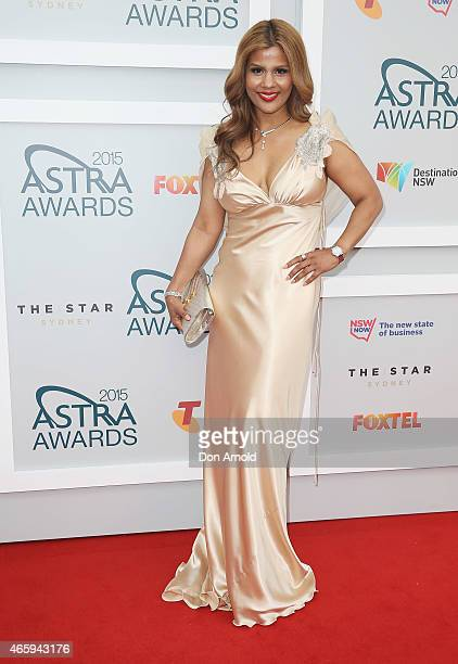 Pettifleur Berenger arrives at the 2015 ASTRA Awards at the Star on March 12 2015 in Sydney Australia