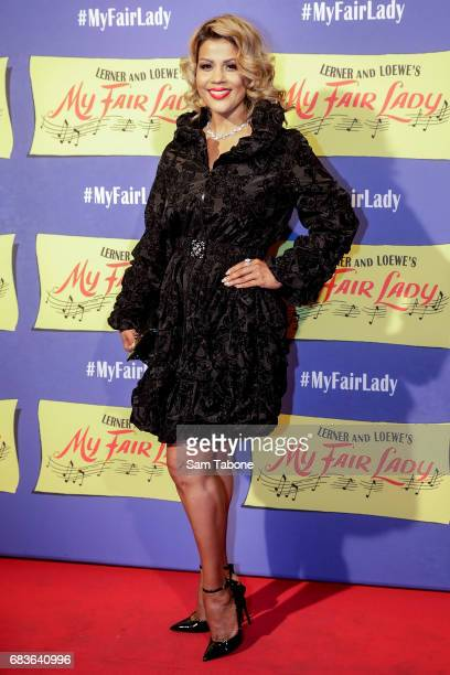 Pettifleur Berringer arrives ahead of opening night of My Fair Lady at Regent Theatre on May 16 2017 in Melbourne Australia