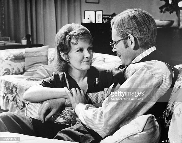 Petula Clark and Peter O'Toole cherish the years they have spent together during their marriage in a scene from the film 'Goodbye Mr Chips' 1969