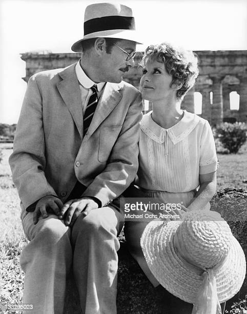 Petula Clark and Peter O'Toole exploring the ruins at Paestum in a scene from the film 'Goodbye Mr Chips' 1969