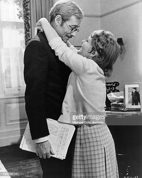 Petula Clark and Peter O'Toole share a happy moment in a scene from the film 'Goodbye Mr Chips' 1969