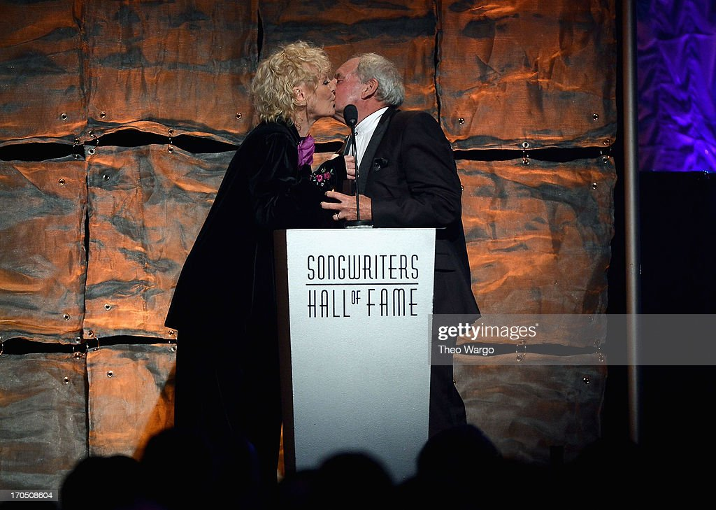 Petula Clark and Tony Hatch speak onstage the Songwriters Hall of Fame 44th Annual Induction and Awards Dinner at the New York Marriott Marquis on June 13, 2013 in New York City.